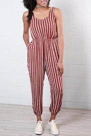 Everly Striped Jumpsuit - Product Mini Image