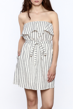 Shoptiques Product: Striped Ruffle Tube Dress