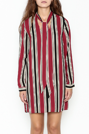 Everly Striped Shift Dress - Front full body