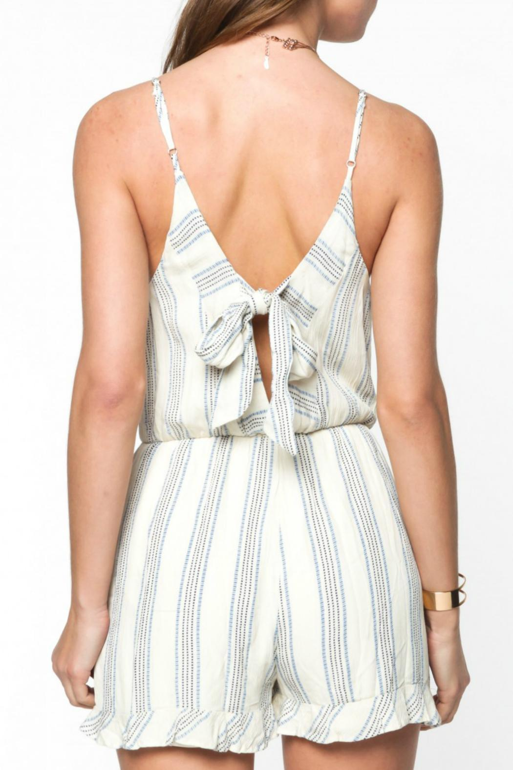 3c0ca9a4f0ce Everly Striped Tie Romper from Texas by Woven Boutique — Shoptiques
