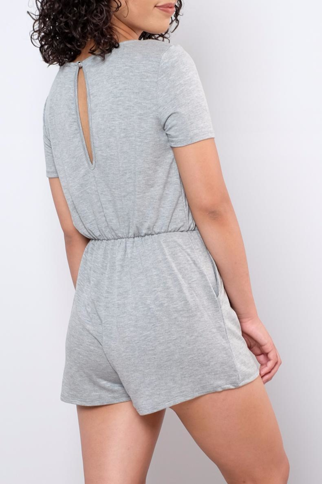 Everly Surplice Romper - Side Cropped Image
