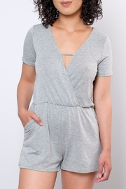 Everly Surplice Romper - Front cropped
