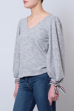 Shoptiques Product: Sweater With Tie-Sleeves
