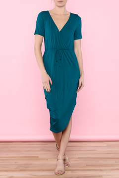 Shoptiques Product: Teal Wrap Dress