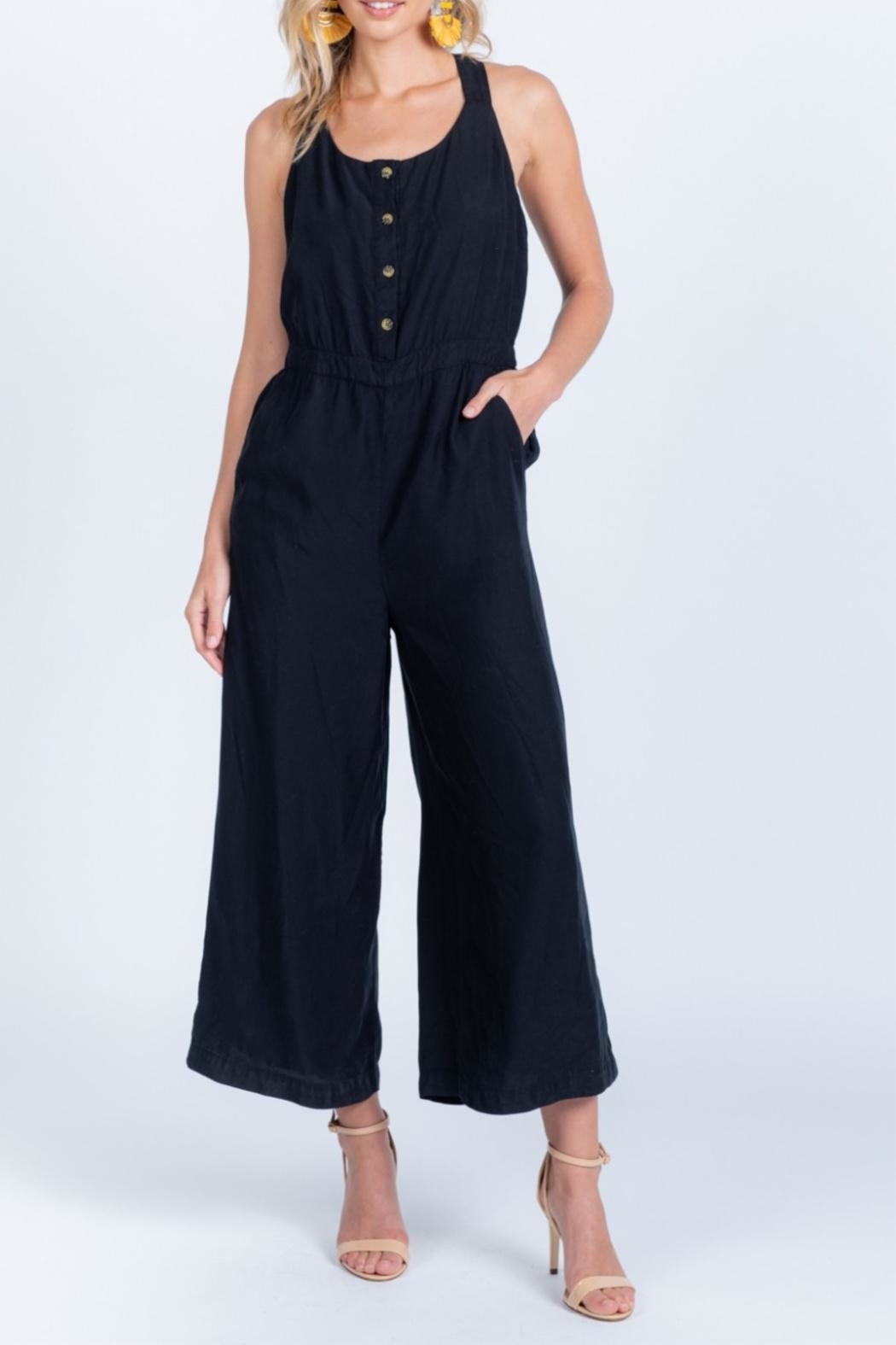 Everly Tie Back Jumpsuit - Main Image