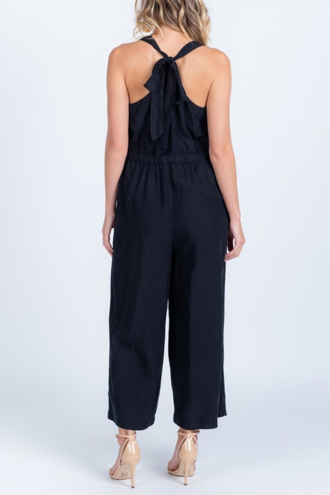 Everly Tie Back Jumpsuit - Back Cropped Image