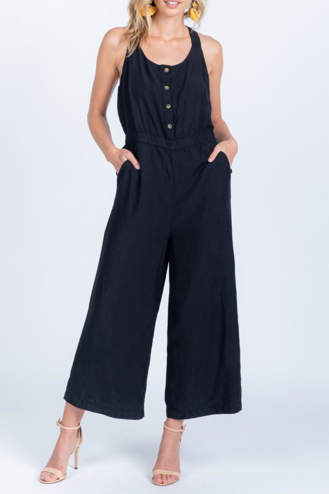 Everly Tie Back Jumpsuit - Front Full Image