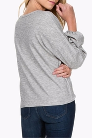 Everly Tie Front Sweater - Back cropped