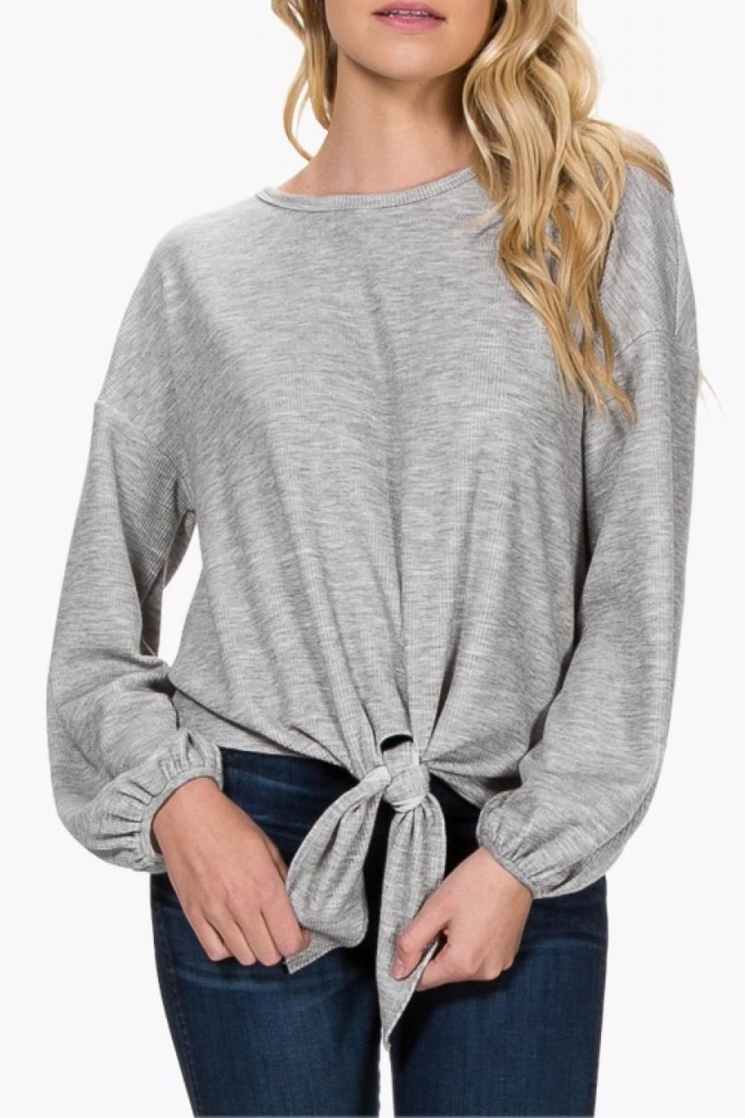 Everly Tie Front Sweater - Main Image