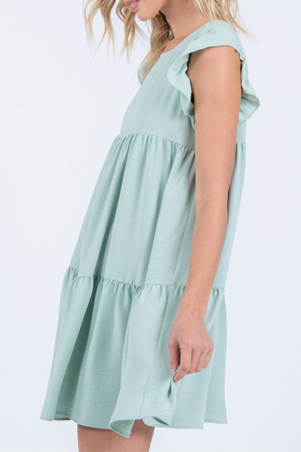 Everly Tiered Babydoll Dress - Front Full Image