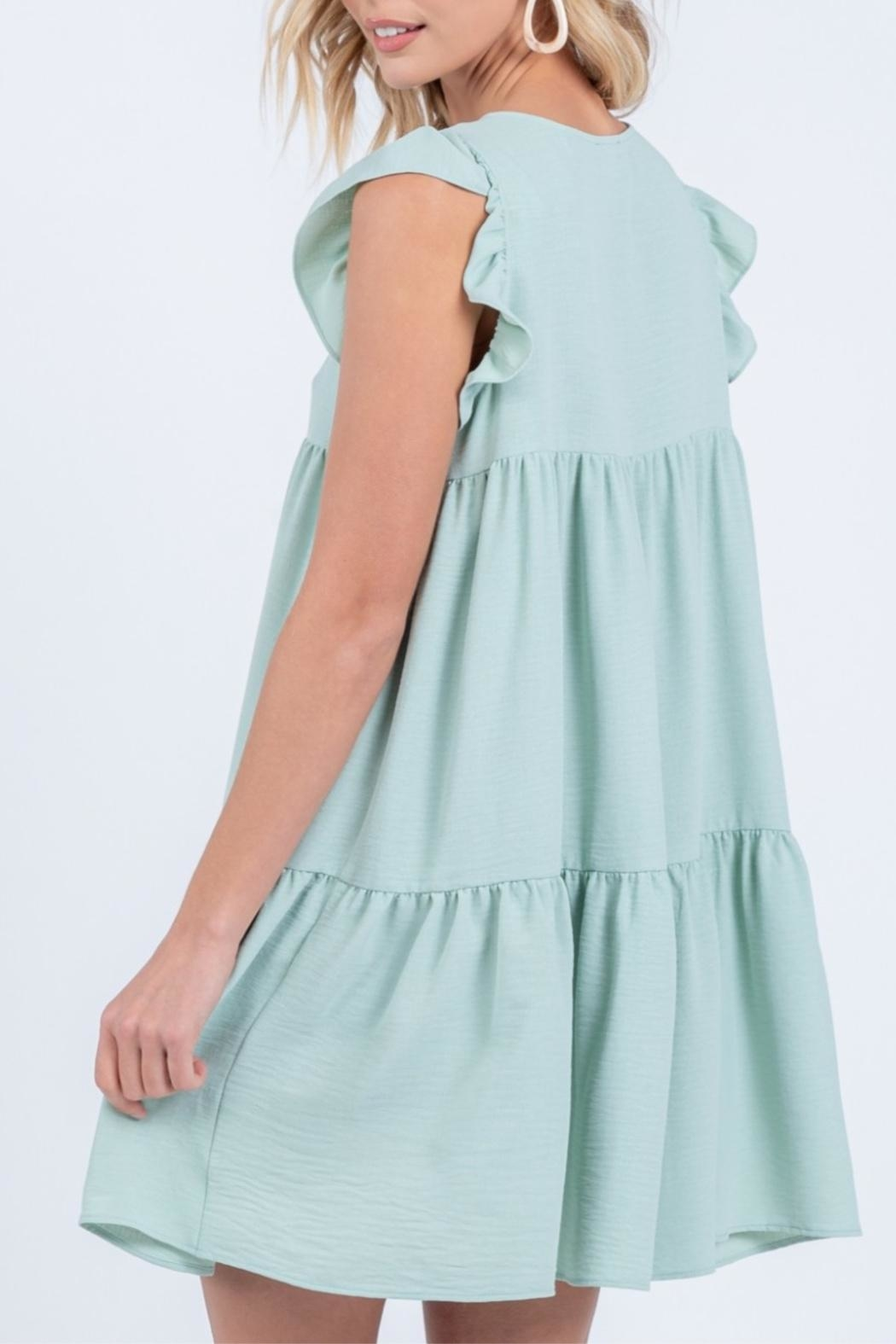 Everly Tiered Babydoll Dress - Side Cropped Image