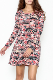 Everly Tribal Print Dress - Product Mini Image