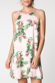 Everly Tropical Flamingo Dress - Product Mini Image