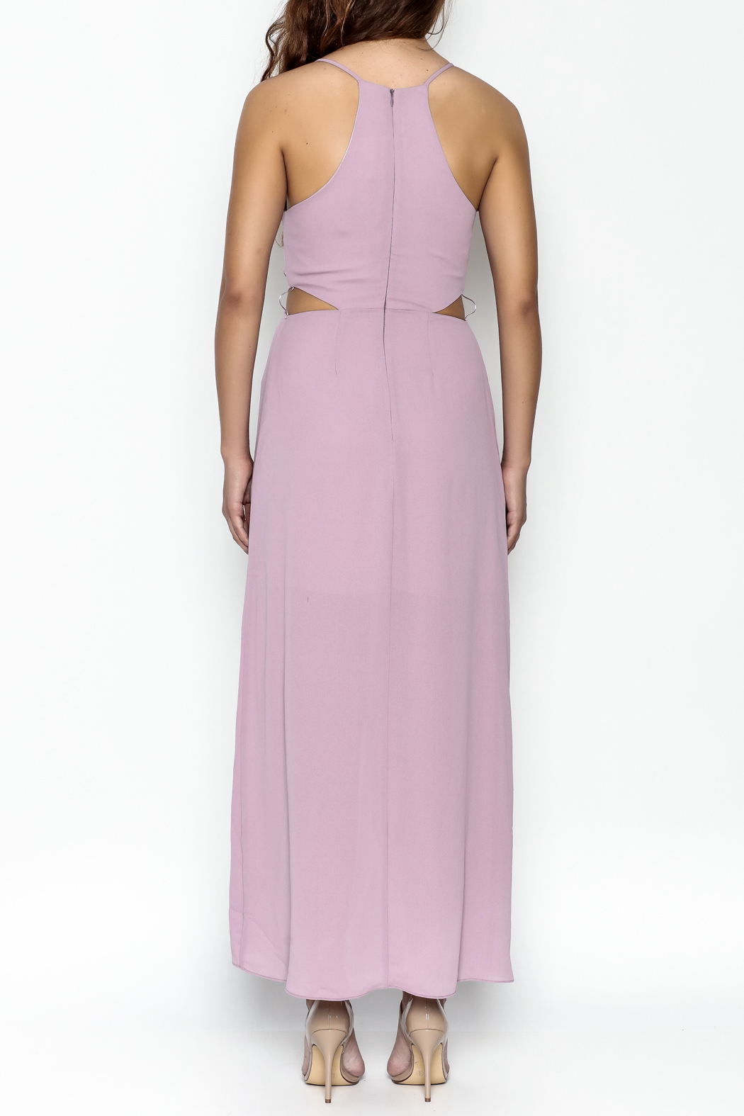 Everly Twist Front Dress - Back Cropped Image