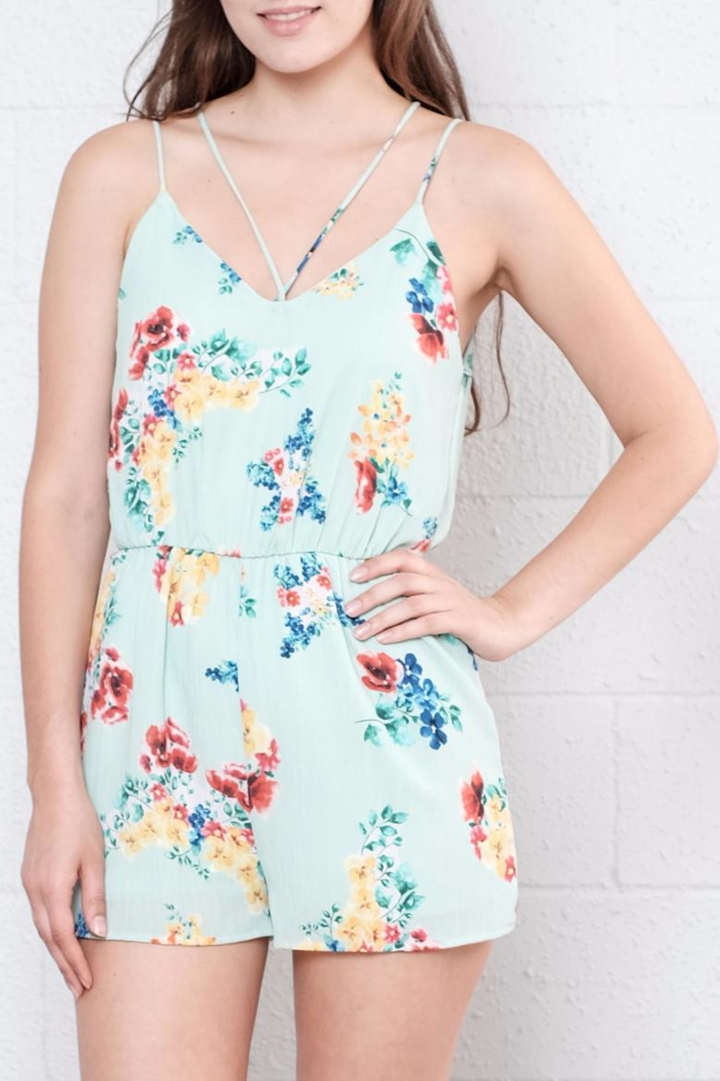 Everly Tyne Floral Romper - Front Full Image