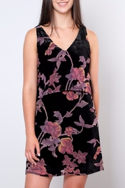 Everly Velvet Floral Dress - Product Mini Image