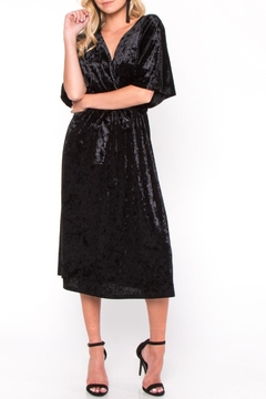Shoptiques Product: Velvet Wrap Midi Dress