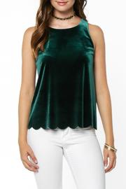 Everly Velvet Scallop Top - Product Mini Image