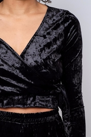 Everly Velvet Side Tie Top - Other
