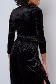 Everly Velvet Side Tie Top - Side cropped