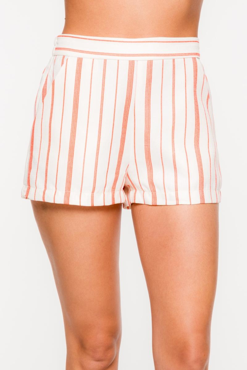 Everly Vertical Striped Shorts - Main Image