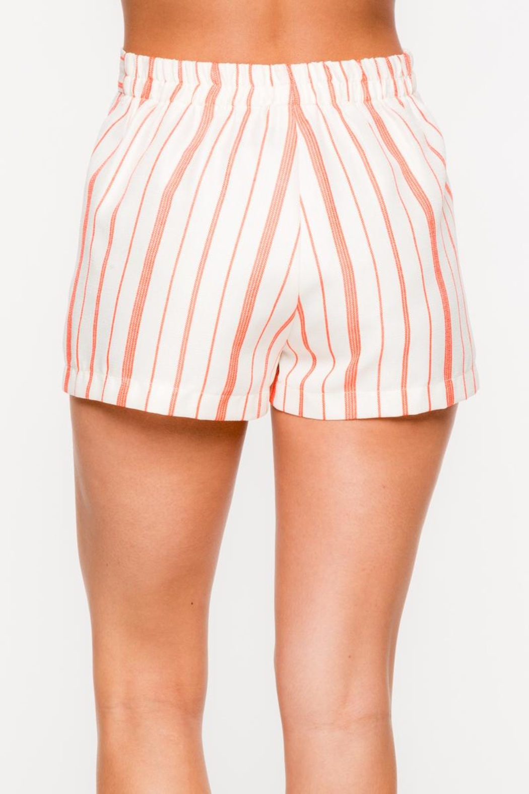 Everly Vertical Striped Shorts - Side Cropped Image