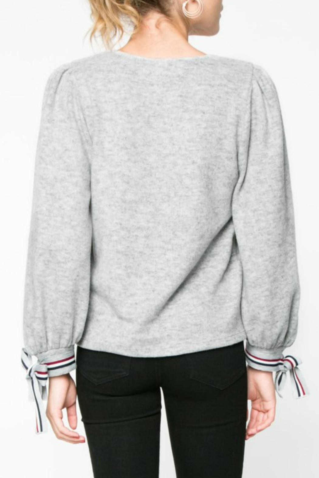 Everly Wrist Tie Longsleeve - Side Cropped Image