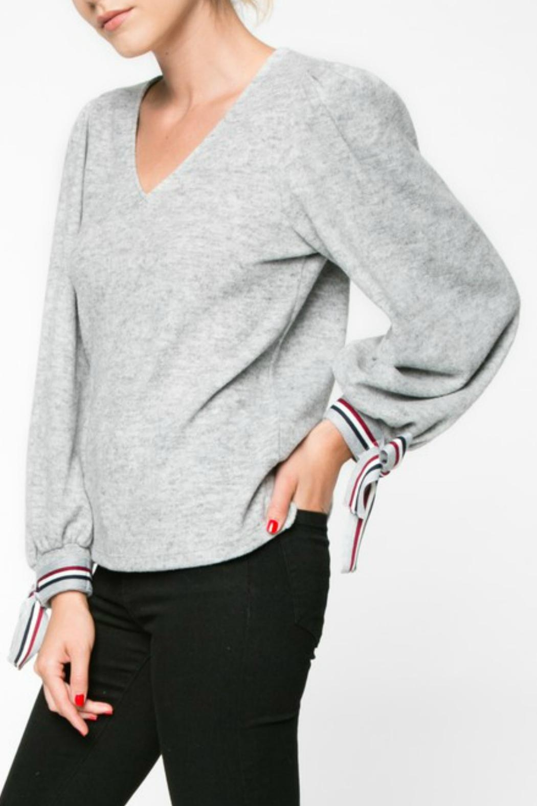 Everly Wrist Tie Longsleeve - Front Full Image