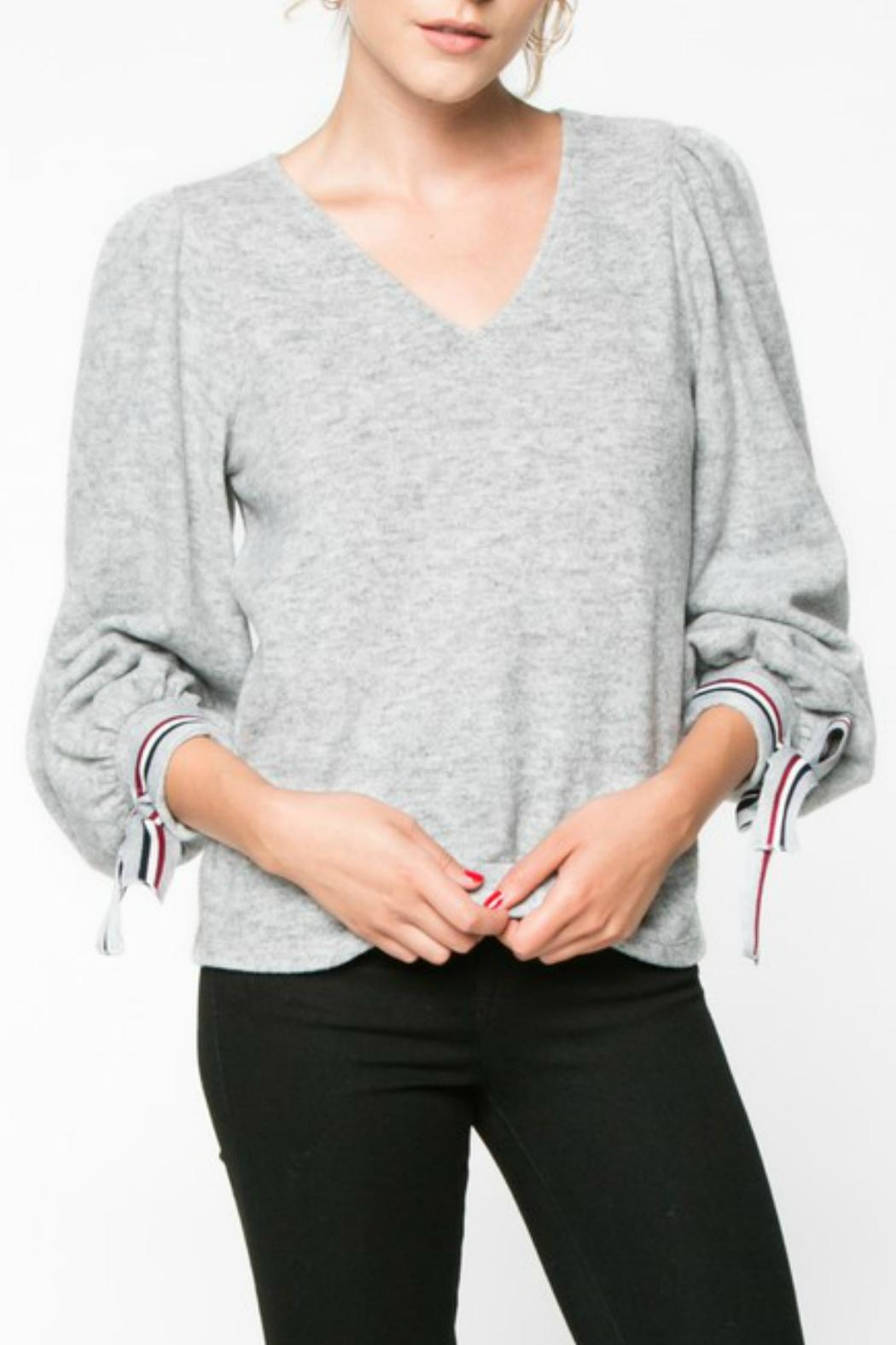 Everly Wrist Tie Longsleeve - Front Cropped Image