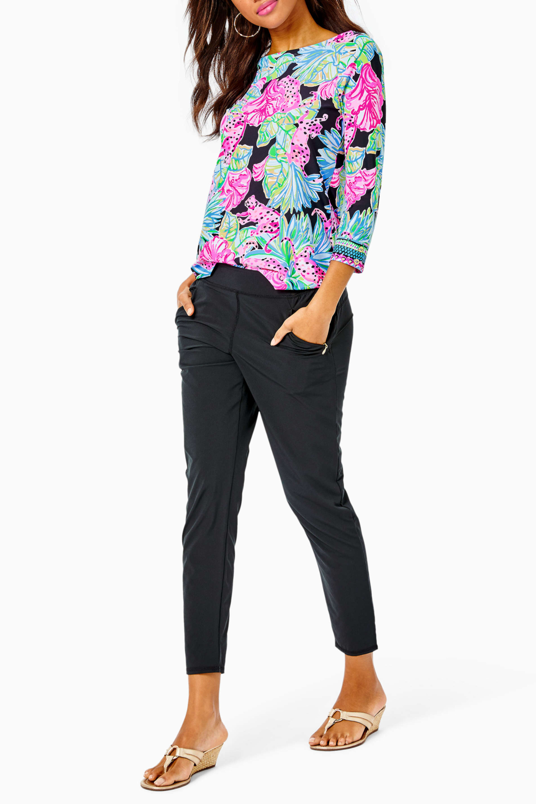 Lilly Pulitzer  Everlynn UPF 50+ Top - Back Cropped Image