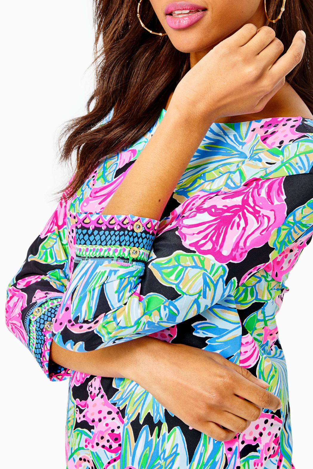 Lilly Pulitzer  Everlynn UPF 50+ Top - Side Cropped Image