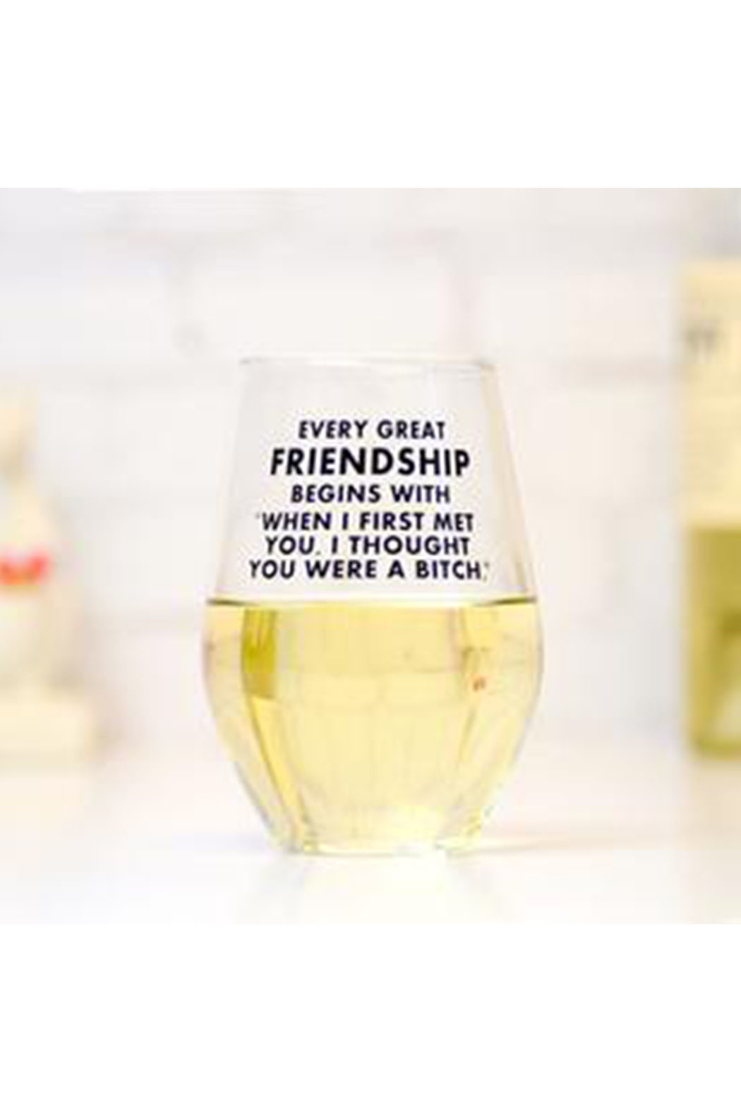 MERIWETHER Every Great Friendship Glass - Main Image