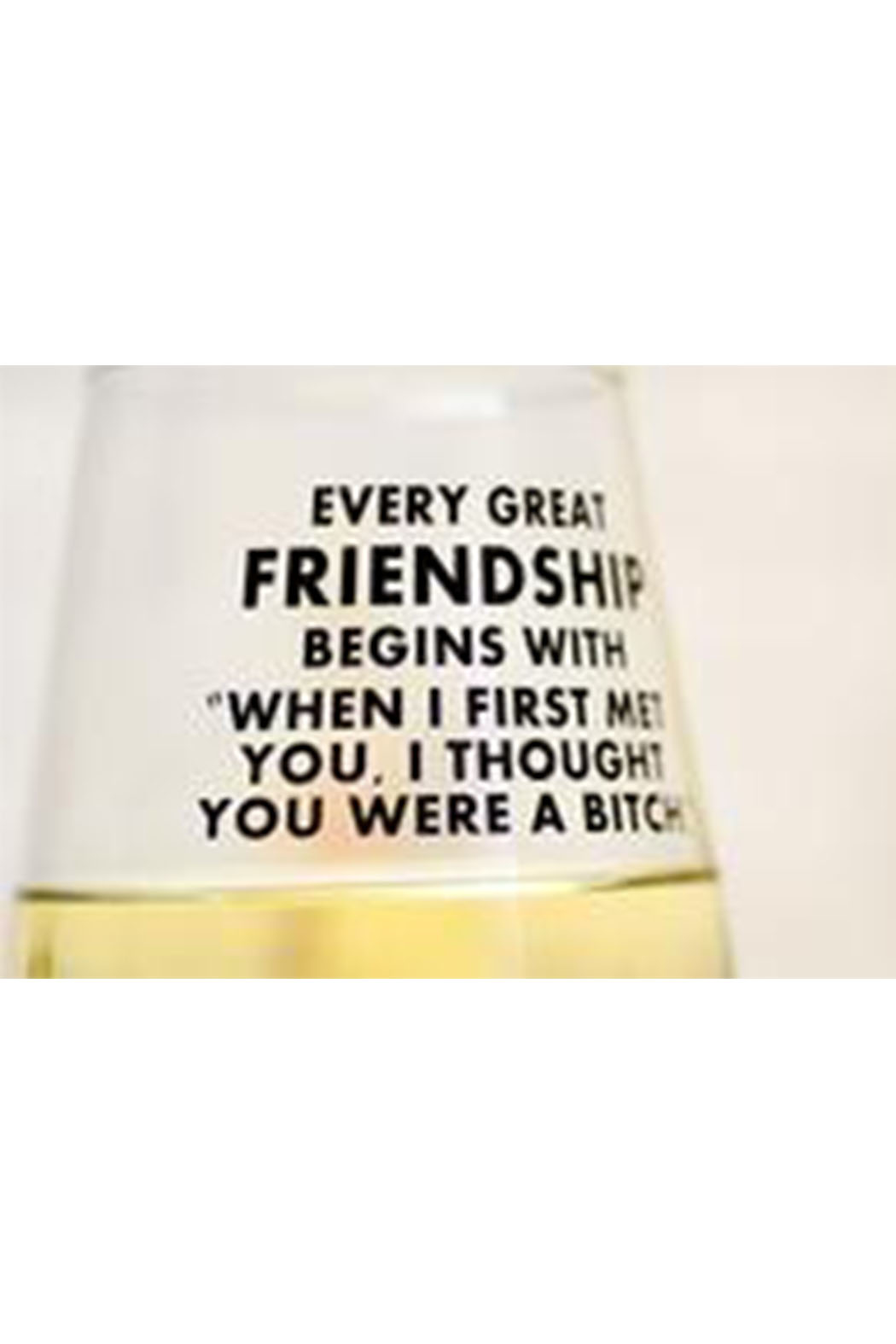 MERIWETHER Every Great Friendship Glass - Front Full Image