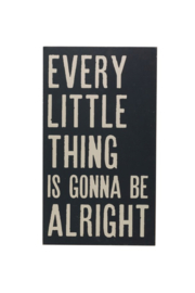 Creative Co-Op Every Little Thing Wooden Wall Sign - Product Mini Image