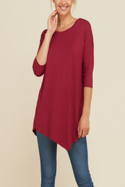 annabelle Everyday Asymmetrical Hem Top - Product Mini Image
