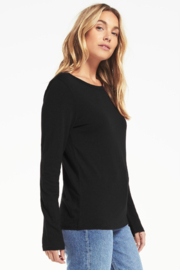 z supply Everyday Brushed L/S Tee - Front full body