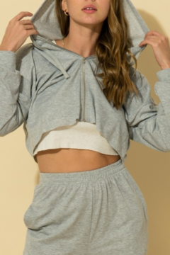 Shoptiques Product: Everyday Cropped Hoodie