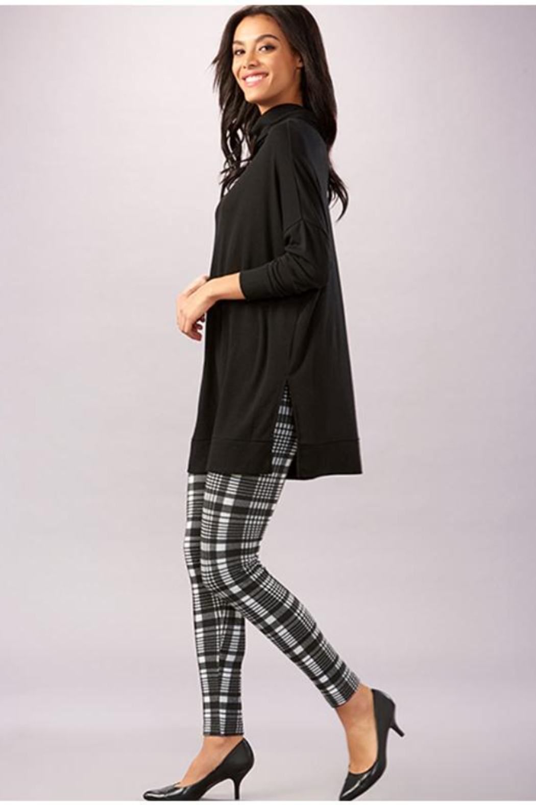 Charlie Paige  Everyday Essential Turtleneck Tunic - Front Full Image