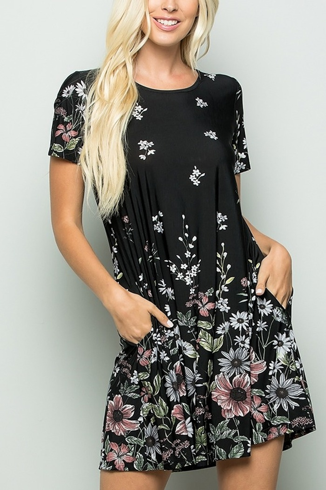Lyn -Maree's Everyday Fall Floral Dress - Main Image