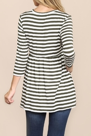 Riah Fashion Everyday-Half-Inch Striped-Tunic - Side cropped
