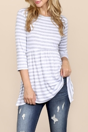 Riah Fashion Everyday-Half-Inch Striped-Tunic - Front cropped