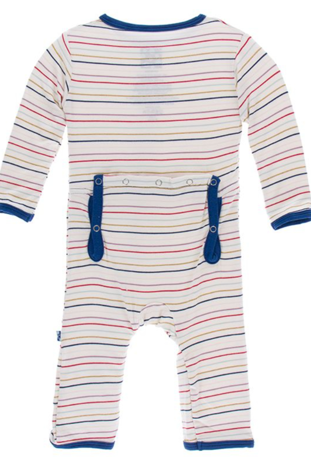 Kickee Pants Everyday Heroes Multi Stripe Zipper Coverall - Front Full Image