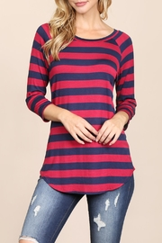 Riah Fashion Everyday-One-Inch Striped Tunic - Product Mini Image