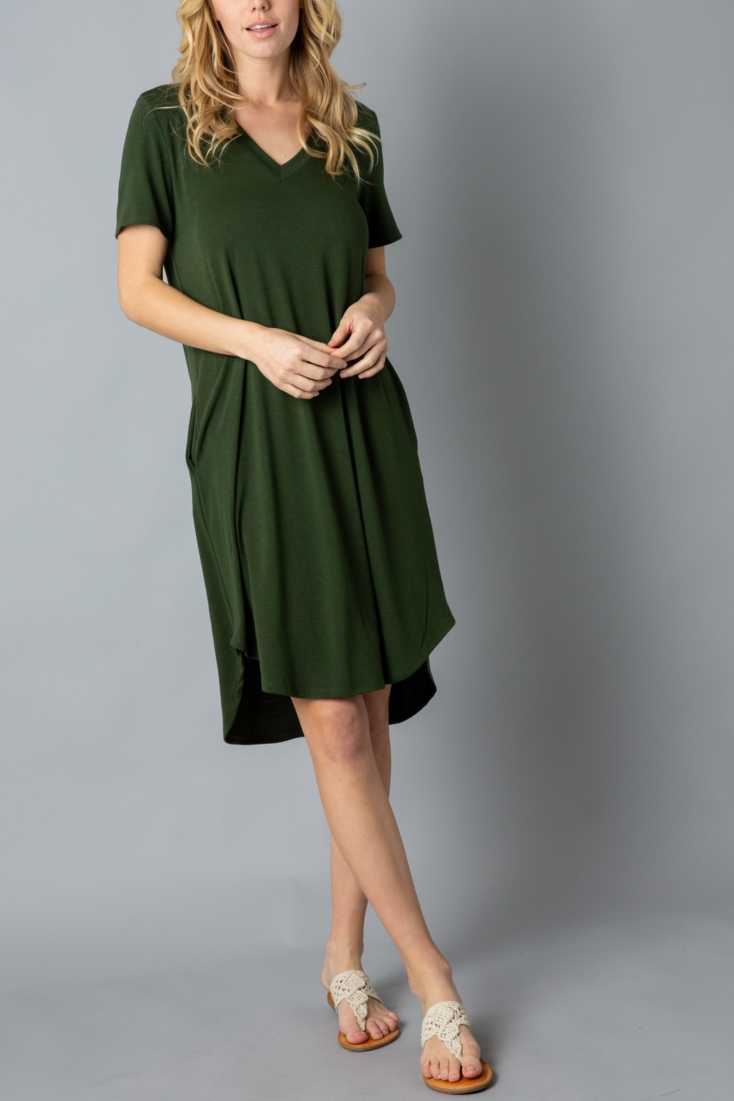 Lyn -Maree's Everyday Short Sleeve Dress - Front Cropped Image