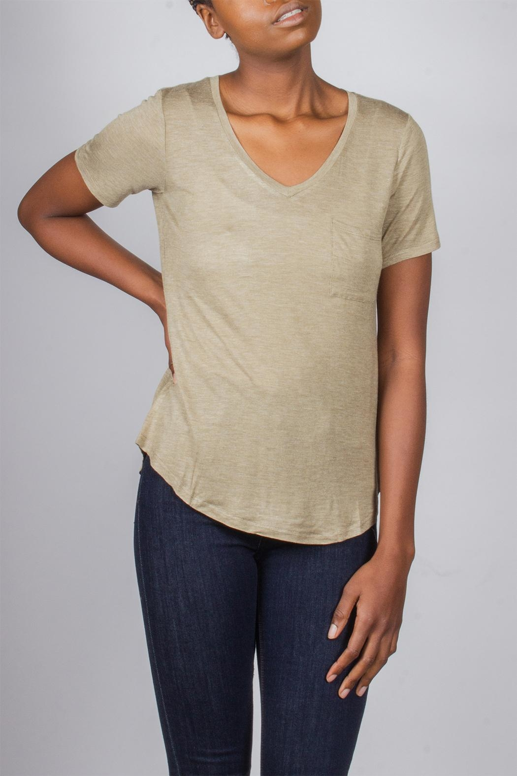 Tresics Everyday Tee Olive-Green - Front Cropped Image