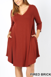 Z Everyday V-Neck Tunic Dress - Product Mini Image