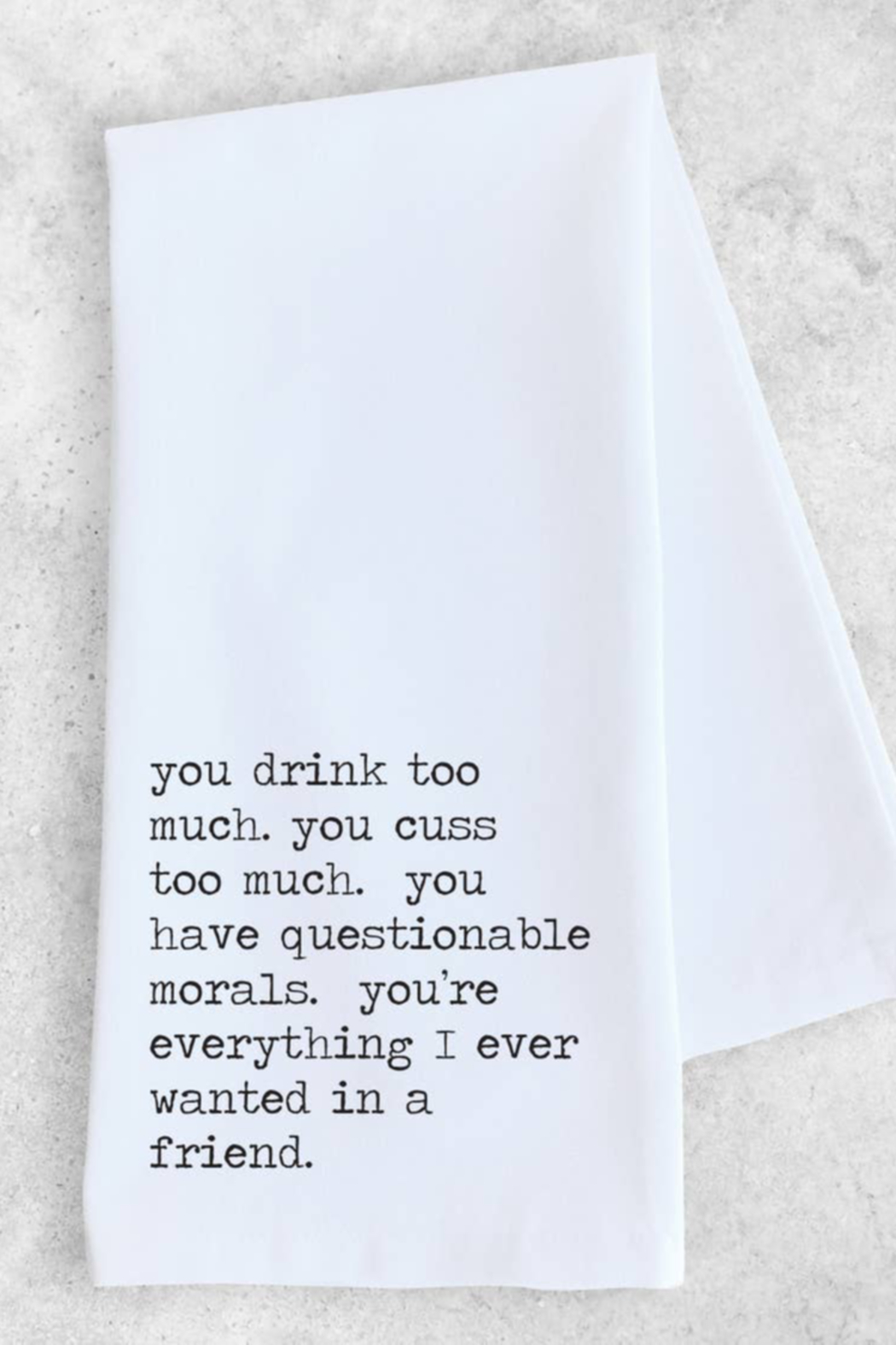 Devenie Designs Everything I Want Tea Towel - Front Cropped Image