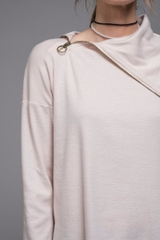 EVIDNT Asymmetrical Zip Top - Back cropped