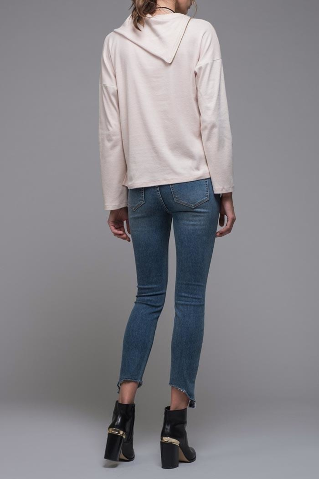 EVIDNT Asymmetrical Zip Top - Side Cropped Image
