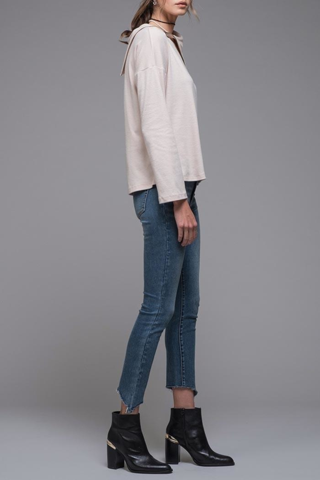 EVIDNT Asymmetrical Zip Top - Front Full Image